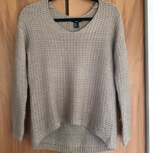Tan knit long sleeve sweater